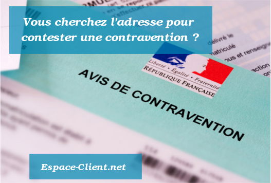 adresse courrier contravention