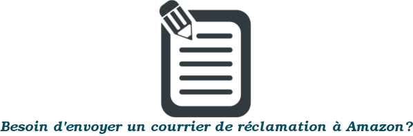 courrier réclamation amazon