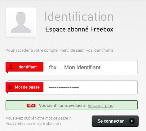 Espace abonné Freebox