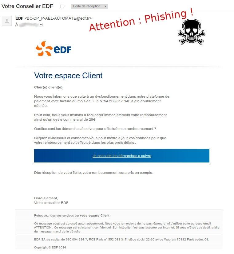 edf mail suspect