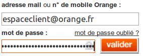 Sur orange fr rubrique espace client