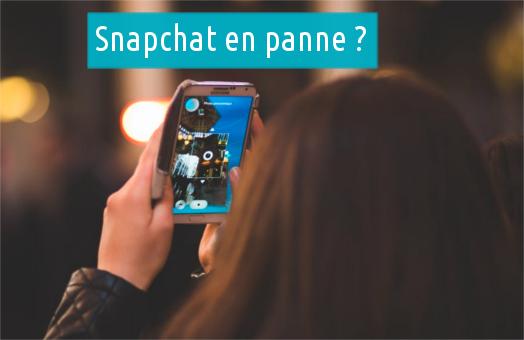 Une panne de connexion avec Snapchat