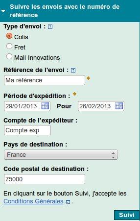 Suivi colis en ligne en france et en belgique for Suivre un courrier suivi